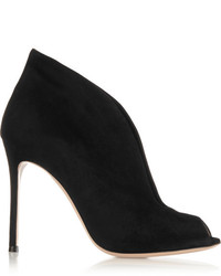 Gianvito Rossi Vamp 105 Suede Ankle Boots Black