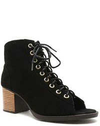 Qupid Dixie Peep Toe Ankle Boots