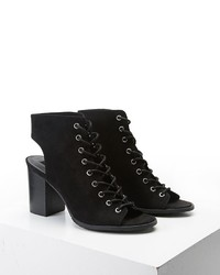 Forever 21 Lace Up Cutout Ankle Boots