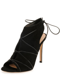 Gianvito Rossi Lace Up Split Suede Bootie