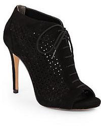 Pour La Victoire Vanzay Laser Cut Suede Ankle Boots