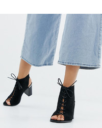 ASOS DESIGN Wide Fit Truly Heeled Sandals