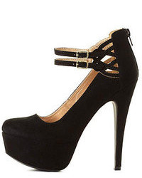 Charlotte Russe Cut Out Ankle Strap Platform Pumps