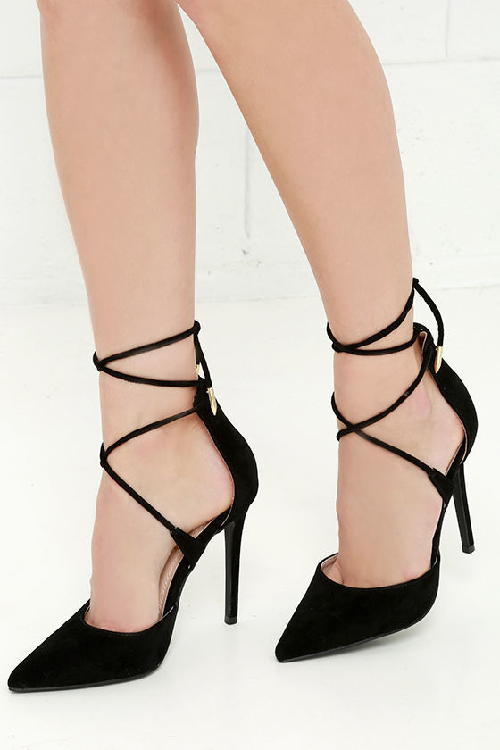 LuLu*s Lulus Michele Nude Lace Up Heels | Where to buy & how to wear