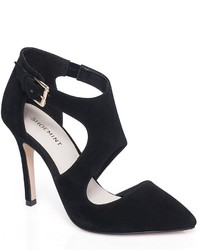 Shoemint Farrell Cutout Suede High Heels
