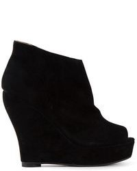 Jeffrey Campbell Open Toe Wedge Ankle Boots