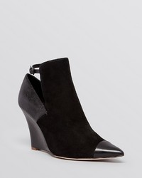 Pointed toe wedge booties zaire medium 290355