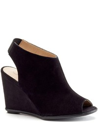 Shoemint Nash Peep Toe Wedge Ankle Booties