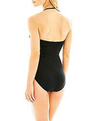 0d5d5e90b ... jcpenney Ana Ana Bandeau Cutout 1 Piece Swimsuit
