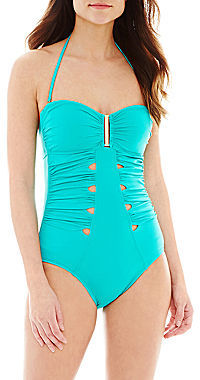 6b3370b62 jcpenney Ana Ana Cutout Bandeau 1 Piece Swimsuit