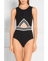 Karla Colletto Parallel Cutout Swimsuit Black