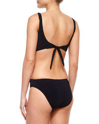Gottex Profile By Waterfall Cutout One Piece Swimsuit Black