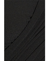 Norma Kamali Xo Bill Mio Cutout Halterneck Swimsuit Black