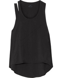 Flex training cutout perforated dri fit stretch tank black medium 3700728