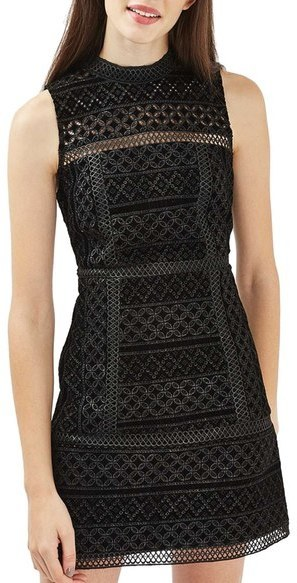 Topshop Cutout Velvet Shift Dress