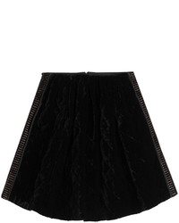 Fendi Velvet Skirt With Cutout Paneling