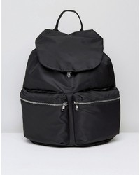 Weekday Double Pocket Backpack In Black