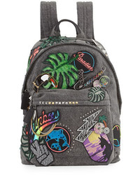 Marc Jacobs Paradise Biker Denim Backpack Blackmulti