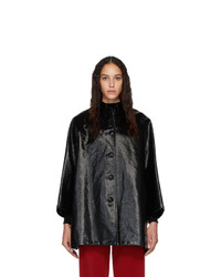 Balenciaga Black Denim Opera Coat