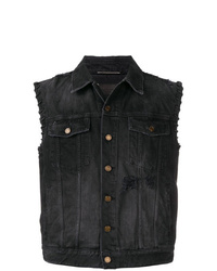 Black Denim Gilet