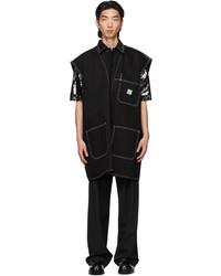 We11done Black Denim Oversized Vest