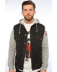 Kill Brand Inaugural Denim Vest Hood Jacket
