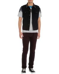 J Brand Leather Collar Vest Black