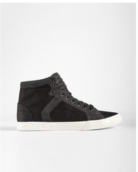 Express Black Denim High Top Sneakers