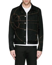 Givenchy 17 Basketball Court Embroidery Denim Jacket
