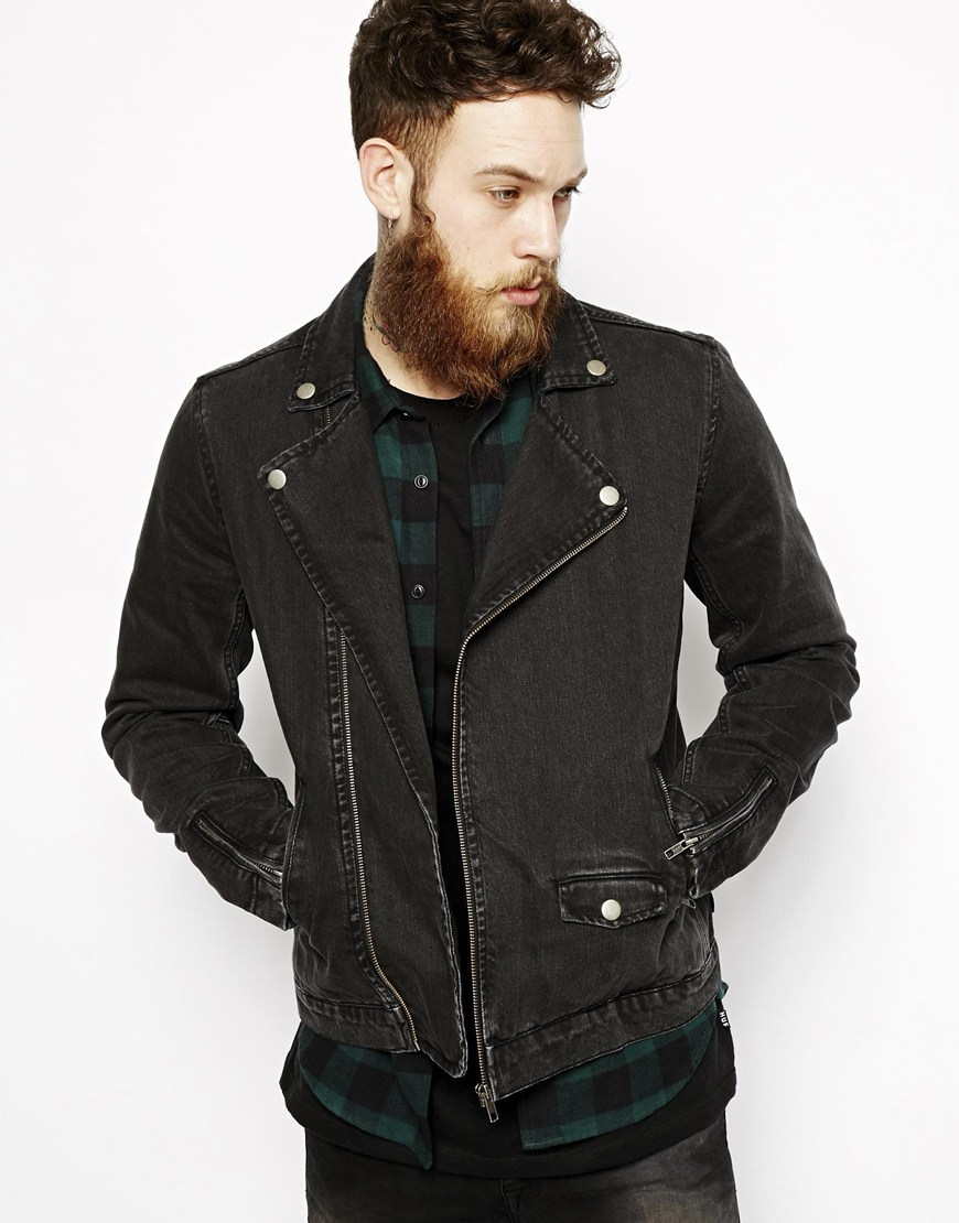 Black denim jacket outfit mens – Modern fashion jacket photo blog