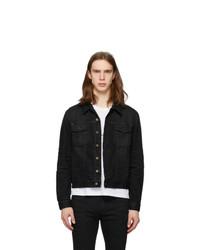 Saint Laurent Black Classic Denim Jacket