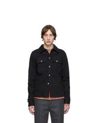 Maison Margiela Black Denim And Pinstripe Jacket