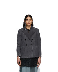 MM6 MAISON MARGIELA Black Denim Double Breasted Jacket