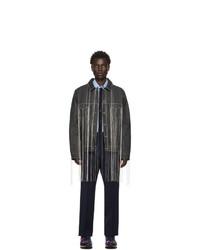 Valentino Black Denim Fringe Jacket