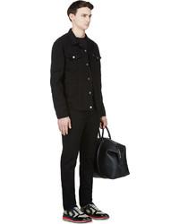 Levi S Black Denim Nightshine Trucker Jacket Where To Buy How To