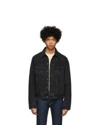 Moussy Vintage Black Denim Oversize Jacket