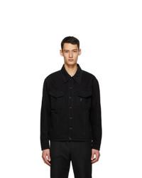 Fendi Black Denim Oversized Jacket