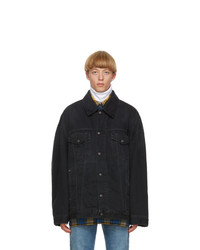 Acne Studios Black Denim Oversized Jacket
