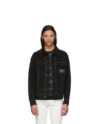 Fendi Black Denim Patch Jacket
