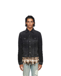 Amiri Black Denim Shotgun Trucker Jacket