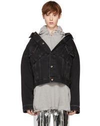 Black denim swing jacket medium 5219105