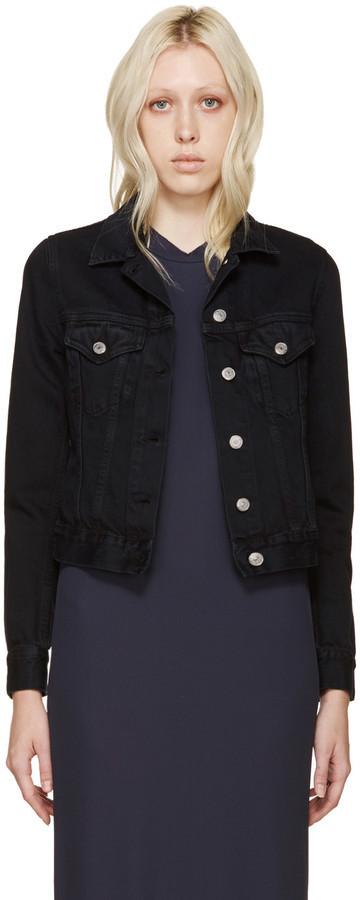 Acne Black Denim Jacket acne studios black denim top jacket, $360 | ssense | lookastic