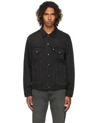 Levi's Black Denim Vintage Fit Trucker Jacket
