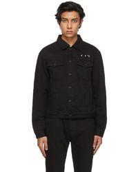 Off-White Black Marker Slim Denim Jacket