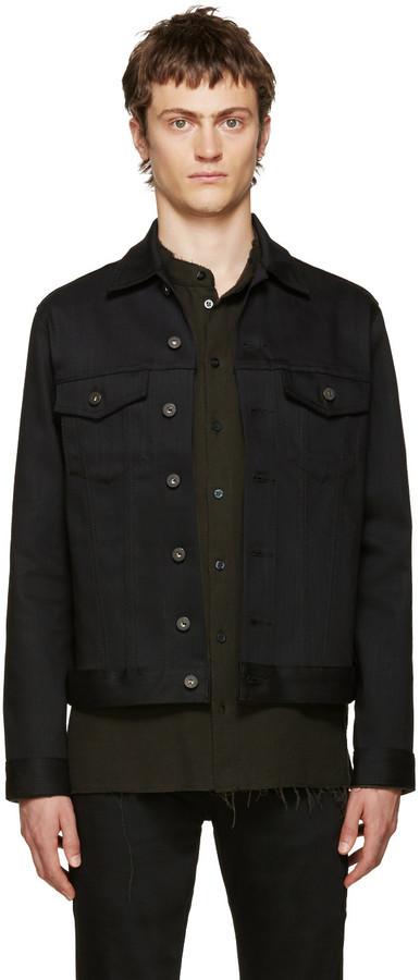 Naked & Famous Denim Black Power Stretch Denim Jacket | Where to ...