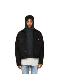 Fear Of God Black Selvedge Denim And Alpaca Jacket
