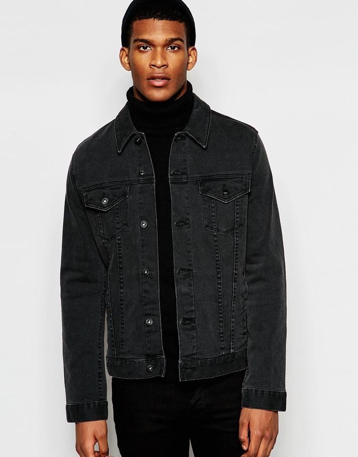 9bd145b885f Asos Brand Denim Jacket In Slim Fit In Washed Black, $57 | Asos ...