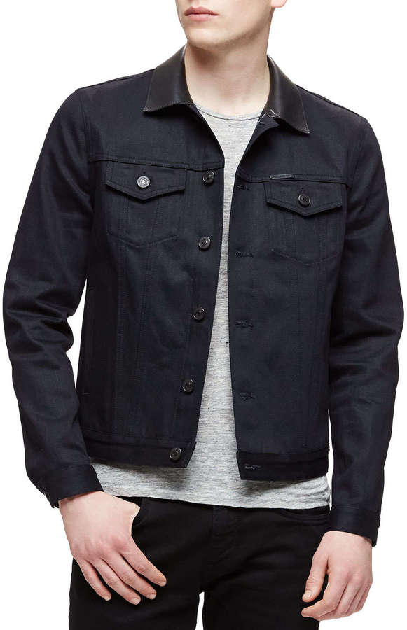 Burberry Brit Dark Denim Trucker Jacket Black | Where to buy & how ...
