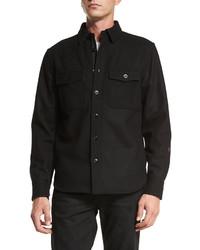 rag & bone Button Down Shirt Jacket Black