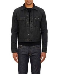 Ralph Lauren Black Label Coated Denim Jacket Black